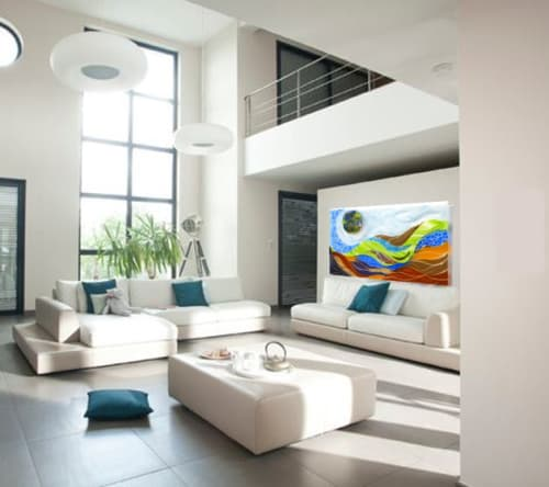 Art & Wall Decor by Bonnie Rubinstein Studio at Private Residence, Long Island, NY - Layered Life