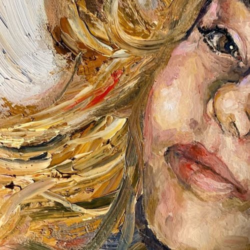 Paintings by Rebecca Lazinger seen at Private Residence, Philadelphia - Commissioned Portrait