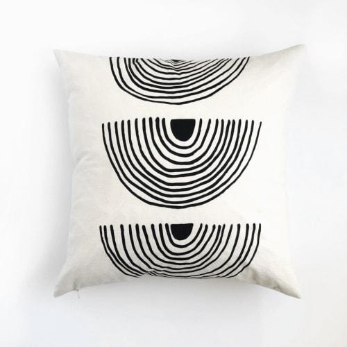 Rainbow Roads   Organic Cotton Pillow   Pillows by Little Korboose