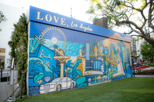 """Murals by """"Kasey Jones, Ink."""" seen at The Grove Drive, Los Angeles - Tacori x Who What Wear Pop Up Shop Mural"""
