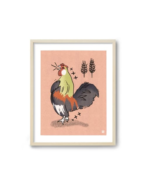 Paintings by Birdsong Prints - Rooster Art Print