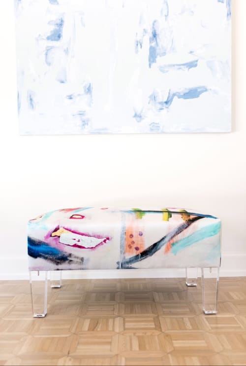 Benches & Ottomans by Sara Bost Fisher at Private Residence, Tulsa - Velvet Bench