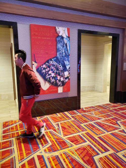 Paintings by Kerri Warner seen at Hard Rock Hotel and Casino Sacramento, Wheatland - Gwen