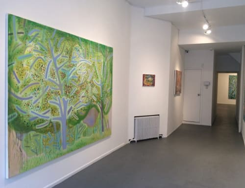 Paintings by Jennifer Coates seen at CRUSHCURATORIAL, New York - Spring Trees