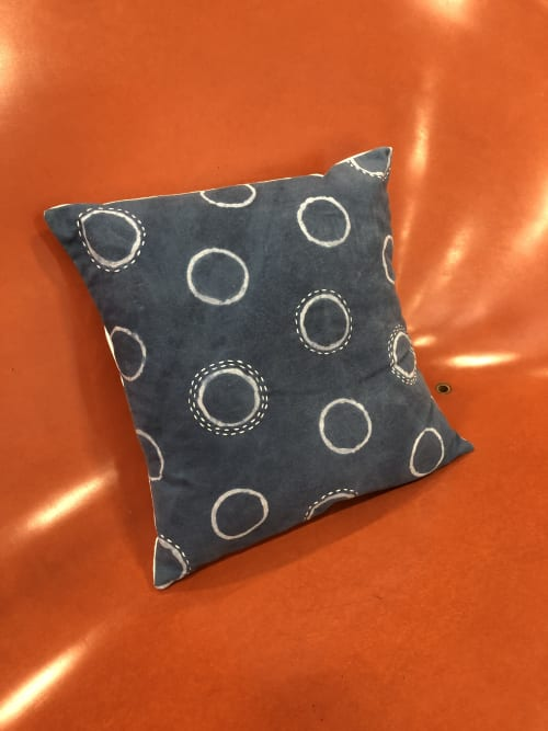 Pillows by KRUPA PARANJAPE seen at Bay Area Made x Wescover 2019 Design Showcase, Alameda - Indigo decorative pillow