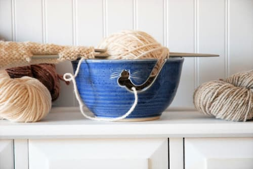 Tableware by Robin Badger & Robert Chartier seen at Private Residence, West Bolton, West Bolton, Quebec - Ceramic Yarn Bowl