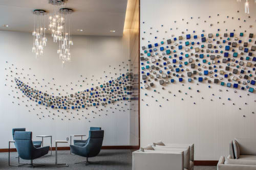 Sculptures by Liz Graham Art Consulting seen at Greenwood Village, Greenwood Village - Liz Graham Art Consulting- lobby remodel