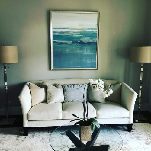 Paintings by Lisa Ridgers Fine Art seen at Private Residence, Winnetka - Abstract Painting
