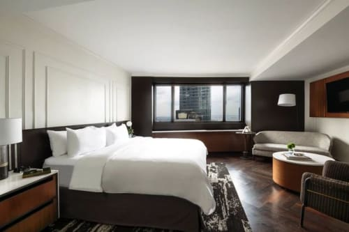Interior Design by Sawyer & Company seen at New York Marriott Downtown, New York - Interior Design