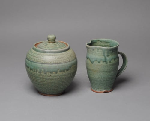 Tableware by John McCoy Pottery seen at Creator's Studio, West Palm Beach - Sugar and Creamer