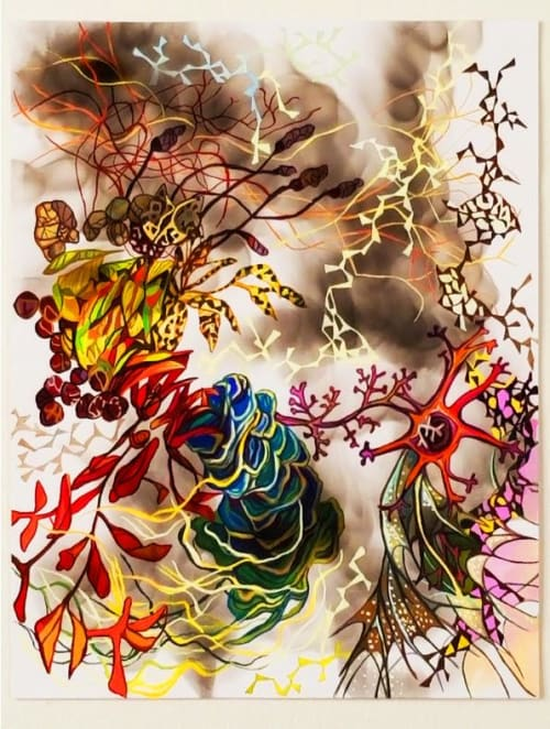 Paintings by Holly Wong seen at Private Residence, Glen Ellen - Lucid Dream III