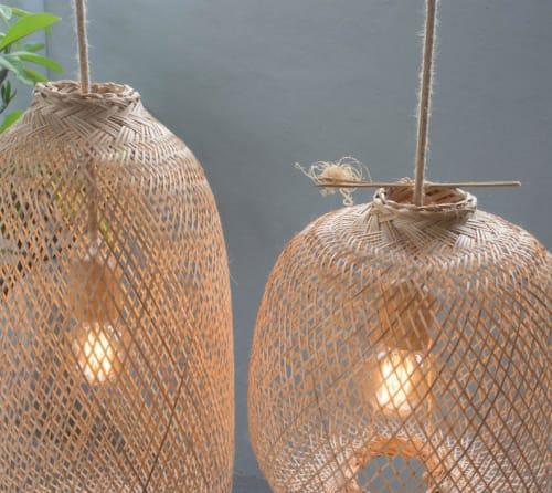 Pendants by LannaPassa seen at Tallow, Ottawa - Bamboo pendant lights