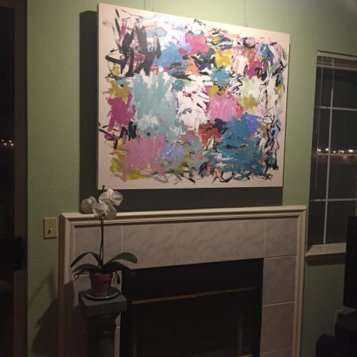 Paintings by Julie Schumer seen at Private Residence, San Ramon - Abstract Painting