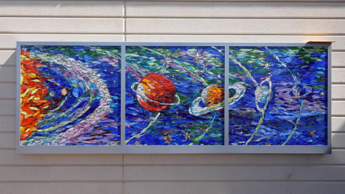 """Murals by DSouza Mosaics seen at Stanford Children's Health 