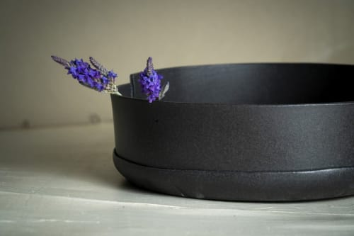 Tableware by ShellyClayspot - Modern Black Ceramic Serving Bowl