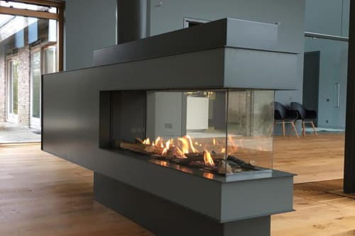Fireplaces by European Home seen at Private Residence, New York - Lucius 140 Room Divider Fireplace by Element4