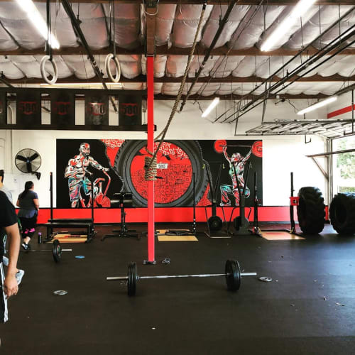 Murals by Trent Thompson seen at CrossFit 580 Livermore || Livermore's Premier Gym | Group Fitness Training, Livermore - CrossFit