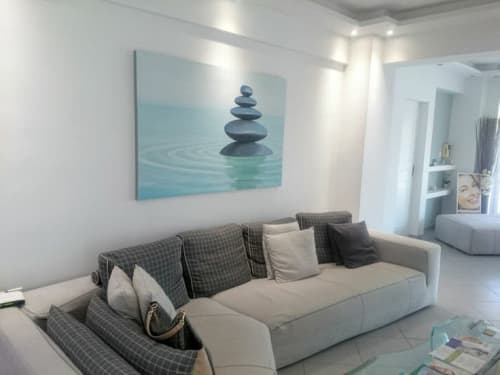 Paintings by Elendenart seen at Meletiou Vasiliou, Athina - Zen 100x150 cm