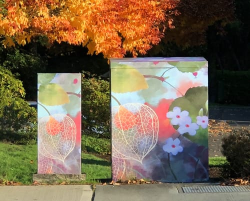 Murals by Fred Lisaius seen at Issaquah, Issaquah - Artwork for City of Issaquah, WA