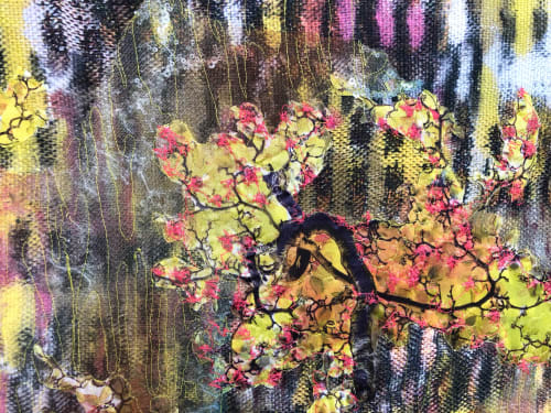 Paintings by Leisa Rich seen at Westside Station by Brock Built, Atlanta - Cherry Blossom