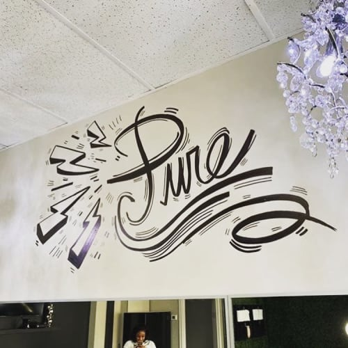 Murals by Wilkins Art & Creative Inc. seen at Pure Glam Studios, Toronto - Pure Glam Studios