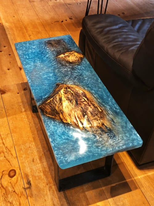 Tables by Timber By Tucker Rustic Design seen at Private Residence, Inverary - Spalted Maple - River Table