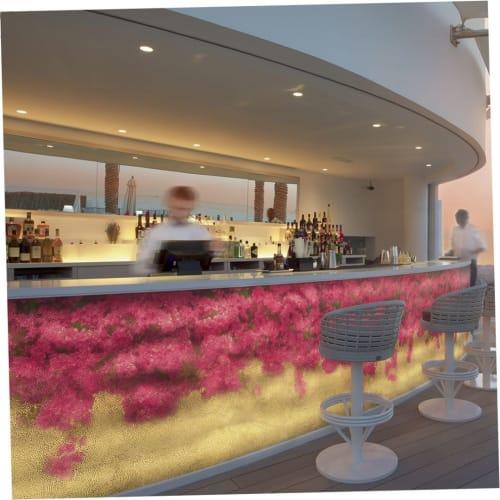 Wall Treatments by mutaforma seen at Jumeirah Beach Hotel, Dubai - Backlit Glass Mosaic