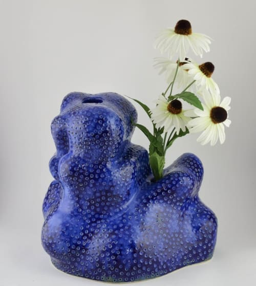 Sculptures by Helena Lacy seen at Espace Commines, Paris - Blue Skye Vase by Helena Lacy