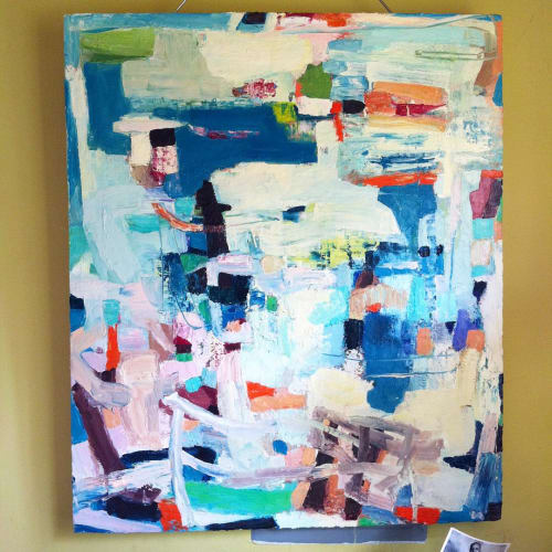 Paintings by Galen Cheney seen at Private Residence, New Canaan - Pacific Beach