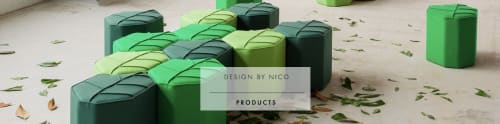 Chairs by Design by nico seen at Bronsteeweg 76, Heemstede - Indoor Pouf Spring