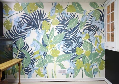Murals by Emilie Darlington seen at Ottawa, Ottawa - Office Jungle Mural