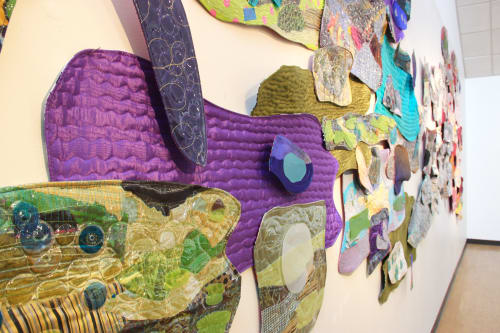 Wall Hangings by Leisa Rich at Abernathy Arts Center, Sandy Springs - Industrial Car Wash