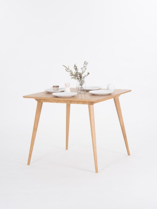 Tables by Mo Woodwork seen at Creator's Studio, Stalowa Wola - Small dining table, extending dining table for small space