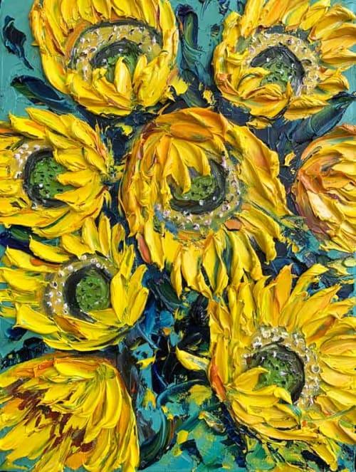 Paintings by Lisa Elley ART seen at Private Residence, Tokyo - Van Gogh Inspired painting
