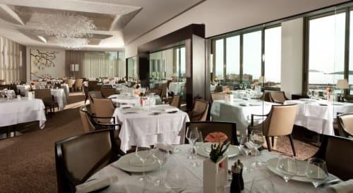 Interior Design by CABAS seen at Restaurant gastronomique Les Oliviers, Bandol - Restaurant Le Oliviers
