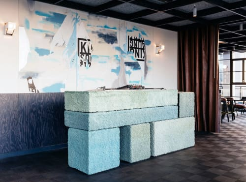 Sculptures by Steven Haulenbeek Studio seen at Ace Hotel Chicago, Chicago - RBS DJ Booth
