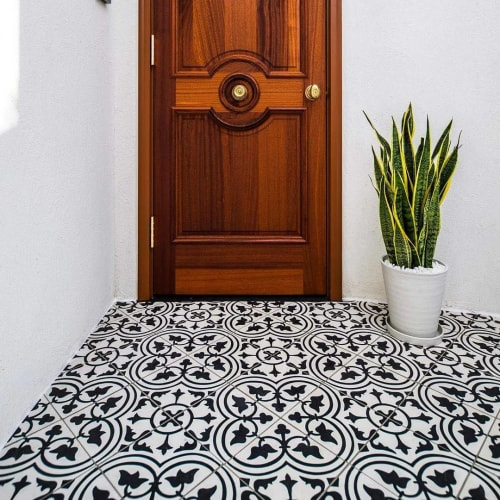 Tiles by Avente Tile at Private Residence, Beverly Hills - Mission Roseton Cement Tile