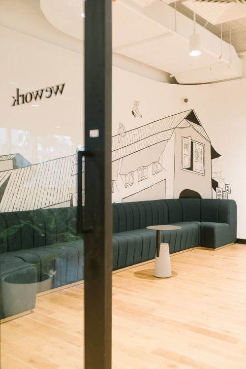 Furniture by Roger&Sons seen at WeWork Funan, Singapore - WeWork Funan