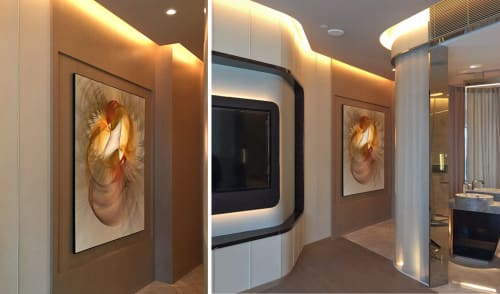 Art & Wall Decor by Rica Belna seen at Morpheus Hotel, Macau - Evolution 14125 and Evolution 14103