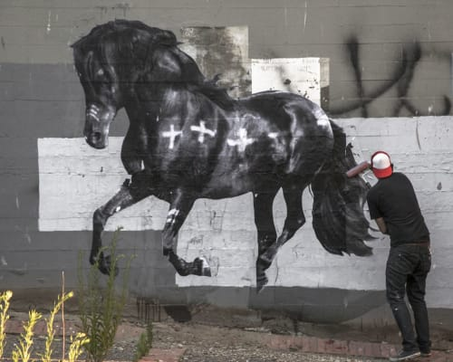 Cheyenne Randall aka INDIANGIVER - Murals and Street Murals