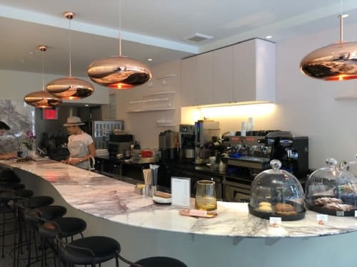 Interior Design by Maya Sittisuntorn and Mauro Pompili seen at Marble Dessert Bar, New York - Interior Design