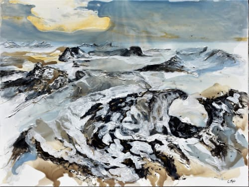 Paintings by Celina Melo seen at Private Residence, Mississauga - Icescape III