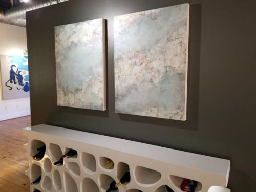 Paintings by Lorra Kurtz Fine Art seen at Private Residence, Alpharetta - Serenity 1 and  2