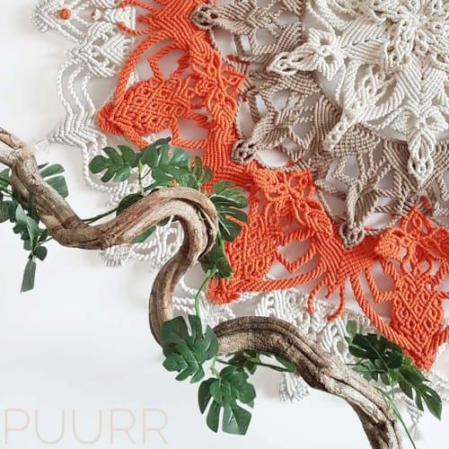 Macrame Wall Hanging by PUURR handcrafts seen at Creator's Studio, Antwerp - Macrame mandala