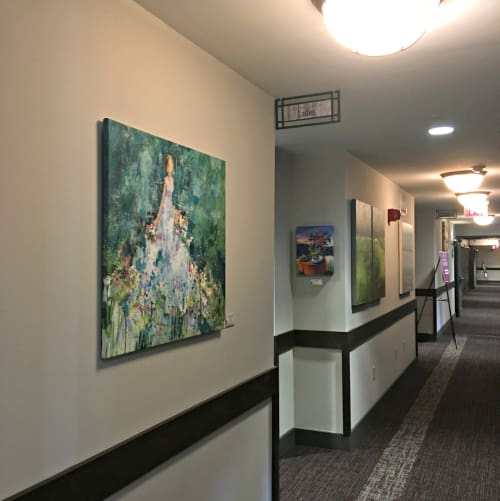Paintings by Kim Schuessler Artist seen at Normandy Farm Hotel and Conference Center, Blue Bell - Figurative Painting