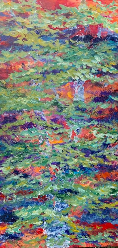 Paintings by Mireille Laroche seen at Andaz Ottawa Byward Market, Ottawa - HIde and Seek