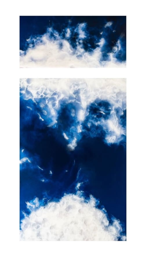 'ROYAL BLUES - 'LOOK UP' 3-D Clouds Series | Paintings by Christina Twomey Art + Design | Minneapolis in Minneapolis