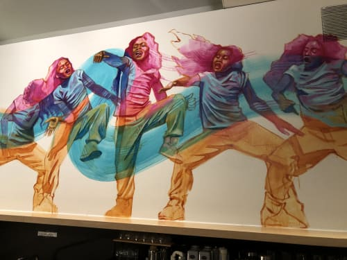 Murals by Rachel Wolfe-Goldsmith seen at 836M Gallery, San Francisco - Our Movement 2