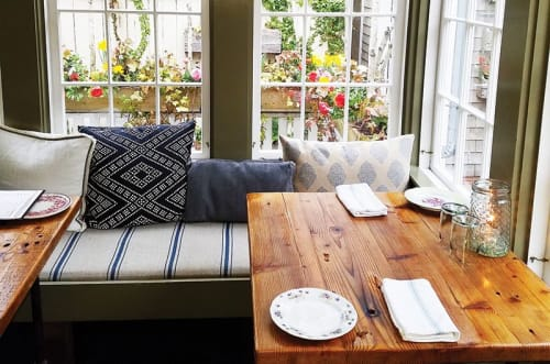 Tables by Urban Wood Goods seen at Nantucket Island, Nantucket - Custom dining tables and cafe tables for restaurant