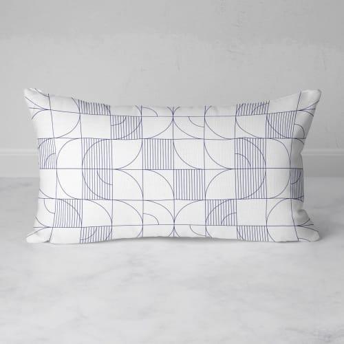 Pillows by Michael Grace & Co - Geometric Harvest Rectangular Throw Pillow